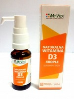 Naturalna witamina D3 w kroplach 20ml