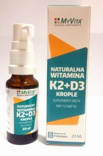 Naturalna witamina K2+D3 w kroplach 20ml