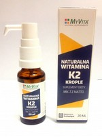 Naturalna witamina K2 MK-7 w kroplach 20ml